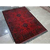 Exclusive Designed Khal Muhamadi Brand New Fine Afghan Rectangle Area Rug Hand Knotted Wool Carpet (4.10 x 3.5)'