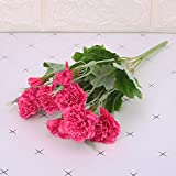 cici store Artificial Silk Fake Carnations 10 Heads Flowers - Wedding Party Home Decoration Photography Props (Hot Pink)