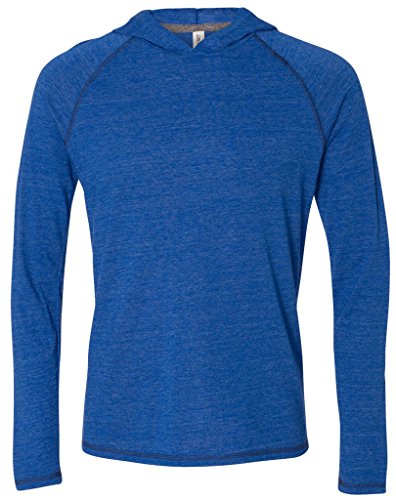 Mens TriBlend Lightweight Hoody, Small Royal Heather Triblen