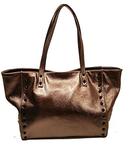 Jessica Simpson Lolita Stud Pewter Oversized Tote Bag