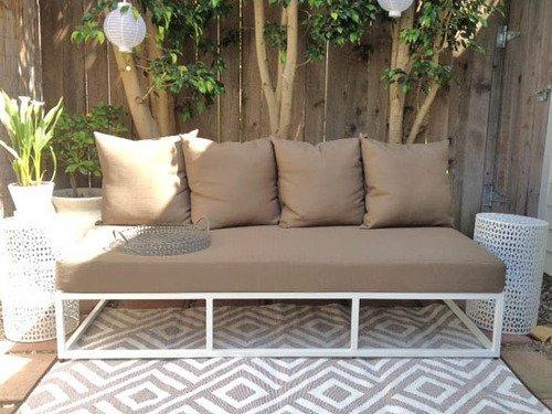 amazoncom bbbegonia malibu geometric reversible design 4u0027 x 6u0027 beigewhite rectangle outdoor rug mat for camping patio - Outdoor Rugs For Patios