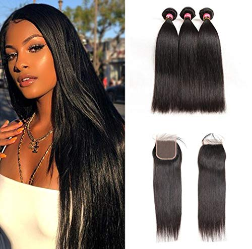 Human Hair Weaves 3 Bundles Malaysian Body Wave 100% Human Hair Bundles With 13*4 Lace Frontal Closure Natural Color Remy Hair Extension Careful Calculation And Strict Budgeting Hair Extensions & Wigs