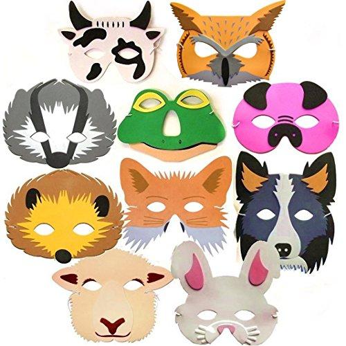 Mask Sheep Child (10 Woodland & Farm Animal Foam Childrens Face Masks made by Blue Frog)
