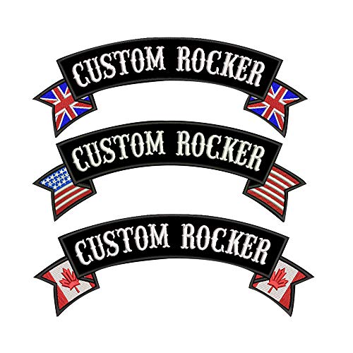 Custom Military Embroidery rocker Name Patch