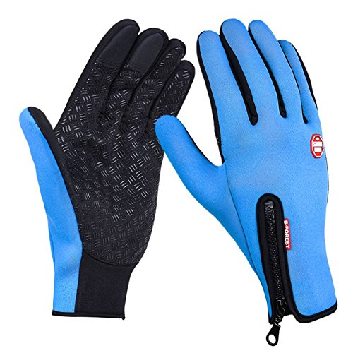 O-C Unisex outdoor sports windproof cycling ski warm touch screen golves XL size