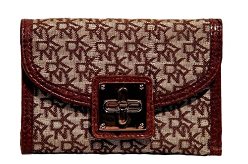DKNY Signature Turn-Lock French Wallet Bag
