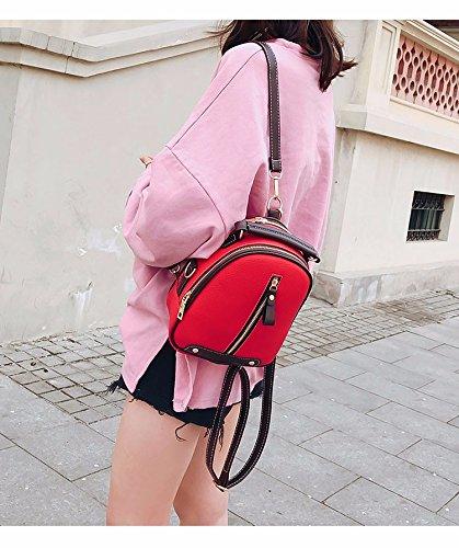 9155fd81e5988 ... rot MSZYZ Double Shoulder Bag female kleine Tasche weibliche Mode Mini  Pack