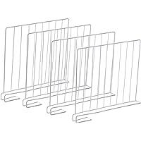 K9CK Separadores de Estantería, 4 Piezas Separadores XL para Organizar Armarios y Estanterías, Blanco, Metálicos, 32.5…