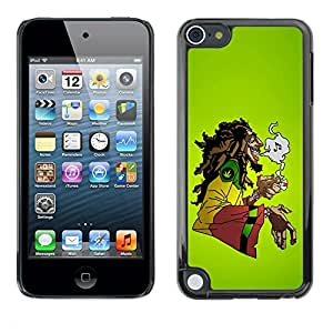 Impact Case Cover with Art Pattern Designs FOR Apple iPod Touch 5 Cool Music 420 Marijuana Rasta Betty shop