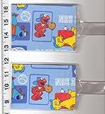 Set of 2 Oversize Luggage Tags Sesame Street Elmo Baseball