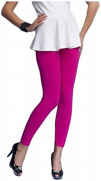 Galaxie - Pack de 3 leggins, pierna larga, algodón, para mujer, 15 colores diferentes rosa rosa XX-Large: Amazon.es: Ropa y accesorios