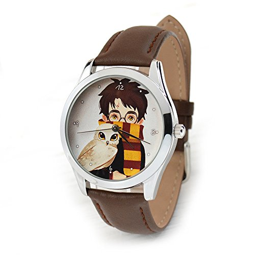 Harry Potter Watch - Quartz Watch For Men And Women With Leather Band - Harry Potter Jewelry - Watch Potter Band Harry
