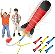 Play22 Toy Rocket Launcher - Jump Rocket Set Includes 6 Rockets - Play Rocket Soars Up to 100 Feet - Missile L