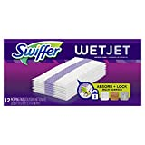 Swiffer WetJet Hardwood Floor Cleaner, Spray Mop Pad Refill, Multi Surface, 12 Count (Packaging May Vary), Pack of 8