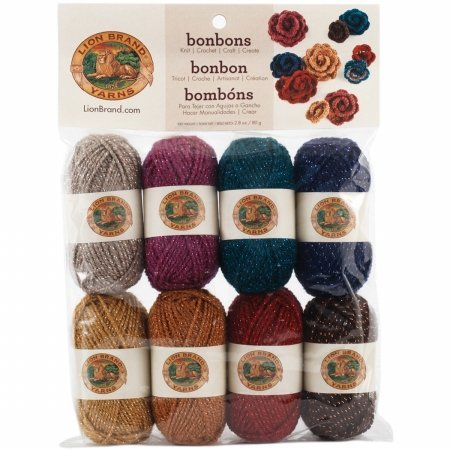 Lion Brand 601-650 Bonbons Yarn 8-Pkg-Party