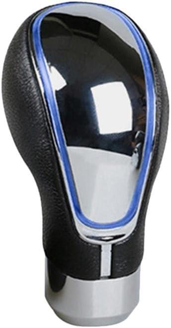 Pomello del cambio a LED universale a 5 marce effetto cromato Eillybird pomello del cambio in pelle in pelle come plug /& play automatico per Opel Insignia
