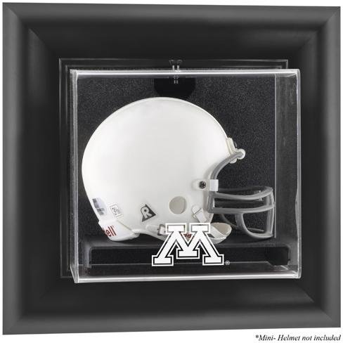 Minnesota Golden Gophers Black Framed Wall Mountable Mini Helmet Display -