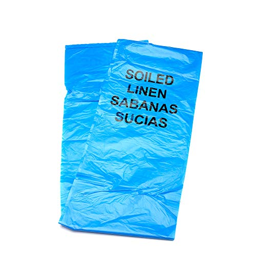 MediChoice Soiled Linen Bag, Bi-Lingual, Reinforced Seams, 16 Mic, 44 Gallon, 38x46 inch, Blue, 131446VXOPR1 (Case of 250)