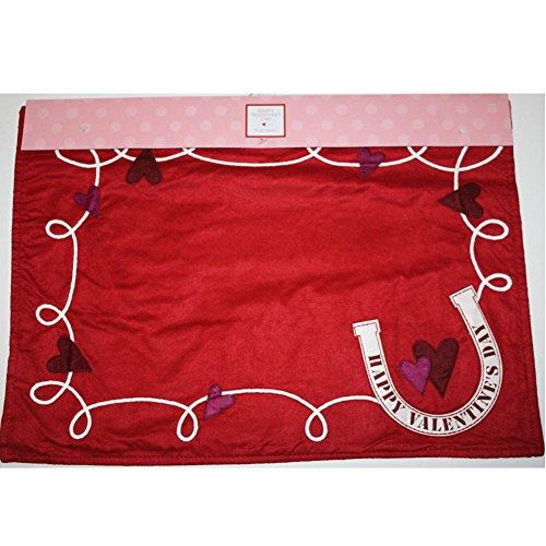 Horseshoe Mat - Valentine's Day Placemat Set of 4,Horseshoe