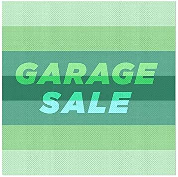 Basic Teal Window Cling 5-Pack Garage Sale CGSignLab 36x12