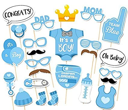 Amazoncom Baa Baa Baby Shower Boys Photo Booth Props Party Set