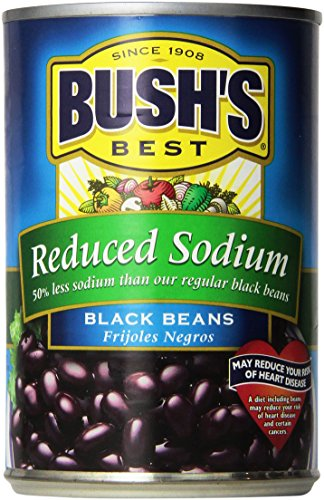 Bush's Reduced Sodium Black Beans, 15 oz, 3 pk