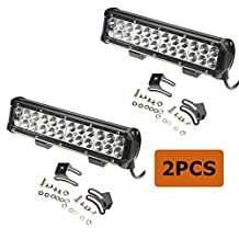 MegaPower (TM) 2PCS, 2 PACK 72w 12 Inch Light Bar Led Cree Spot Work Off Road Fog Driving 4x4 Bumper Rock for 4x4 Jeep Cabin UTE SUV ATV Truck Boat vehicle trucks