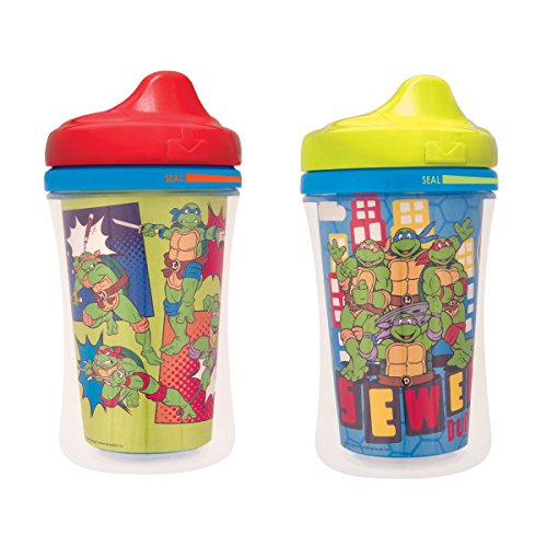 Gerber Graduates Nickelodeon Teenage Mutant Ninja Turtles Insulated Hard Spout Sippy Cup, 2-Pack ()