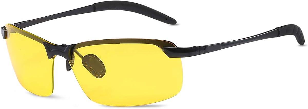 LumiSyne Hombre Gafas de Vision Nocturna Conducción, Gafas de sol Polarizadas, Gafas de Fotocromáticas Gradient, Montura de aleación, UV 400 Al aire libre Viajar Caja de regalo(Amarillo): Amazon.es: Ropa y accesorios