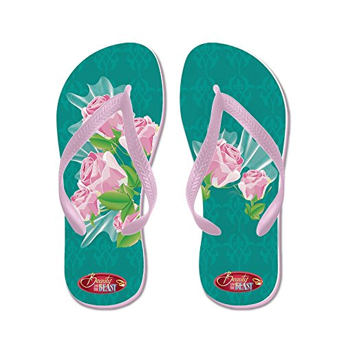 CafePress Beauty and The Beast??? - Flip Flops, Funny Thong Sandals, Beach Sandals Pink