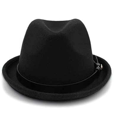 Wool Fedora Hat,Women Men Wool Fedora Hat With Cloche Ribbon Winter Autumn Wide Brim Jazz Church Color : 8, Size : 57-59CM Women Hats