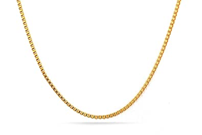 Cadena para hombre de Vnox, bañada en oro de 18 quilates, acero inoxidable, 2 mm x 45 cm