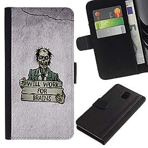 A-type (Trabajará para Brains) Colorida Impresión Funda Cuero Monedero Caja Bolsa Cubierta Caja Piel Card Slots Para Samsung Galaxy Note 3 III
