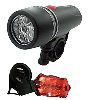 Q4Travel Bicycle Head Light and Tail Light Set. Super Bright LED Bike Lights Front & Rear.