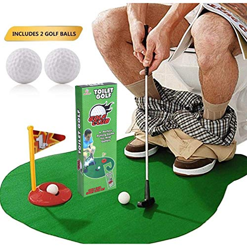 Safak Toilet Golf - Potty Putter Toilet Game - Funny Gag Gifts for Men, Kids, Women, Adults