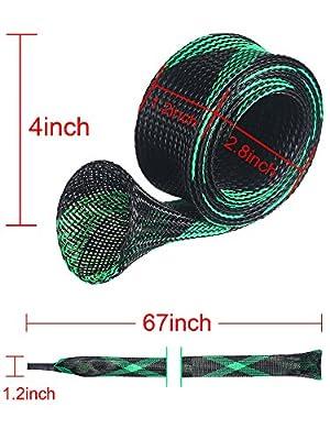 Jovitec 4 Pack Spinning Fishing Rod Sleeve Rod Sock Cover Rod Sock