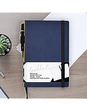 Bullet Journal/Cuaderno Punteados - Takenote A5 Cuaderno de Tapa Dura - Papel Grueso Premium (Azul)
