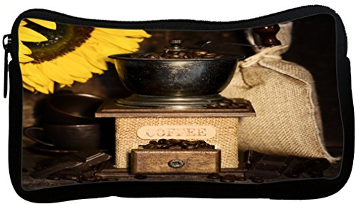 Rikki Knight Still Life with Antique Coffee Grinder and Sunflower Neoprene Pencil Case (dky-Neo-pc8925)