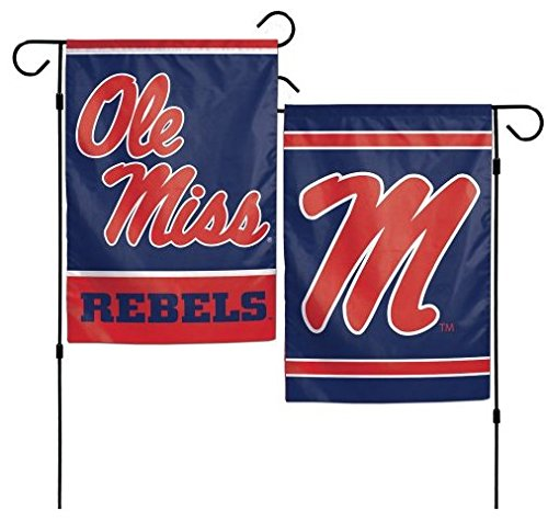 WinCraft NCAA University of Mississippi Ole Miss 12x18 Inch 2-Sided Outdoor Garden Flag - Alumni Miss Ole