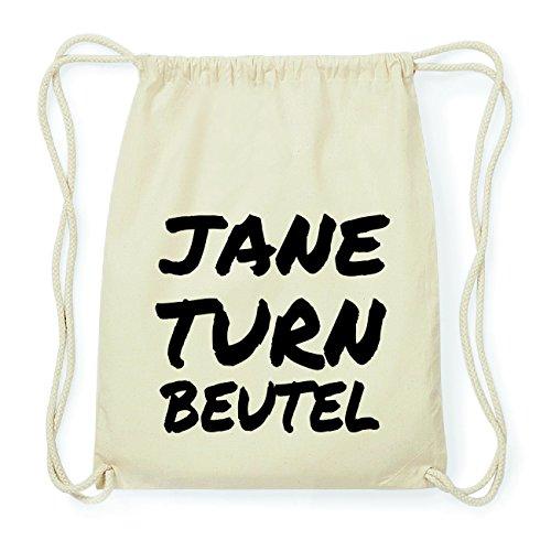 JOllify JANE Hipster Turnbeutel Tasche Rucksack aus Baumwolle - Farbe: natur Design: Turnbeutel sLeL0