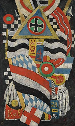 Berkin Arts Marsden Hartley Giclee Canvas Print Paintings Poster Reproduction(Portrait of A German Officer) #XFB