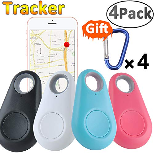 GBD Smart Finder Locator Pet Tracker Alarm for Key Wallet Car Kids Dog Cat Child Bag Phone Selfie Shutter Wireless Seeker Anti Lost Sensor Outdoor Travel Camping Birthday Gift (4pack Random Color)