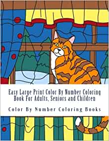 Color by number books for kids