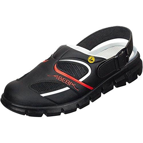 Abeba 37342-45 misura 114,30 cm (45) dinamici ESD-Scarpe da lavoro per zoccolo, colore: nero/rosso