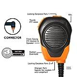Klein Valor Orange Shoulder Mic for Motorola Wave TLK 100 SL300 SL500 SL3500 SL7550 SL7550e SL7580 SL7580e SL7590 SL7590e and Maxon TPD-8124 TPD-8424 Two-Way Radios Walkie Talkies Handheld Portable