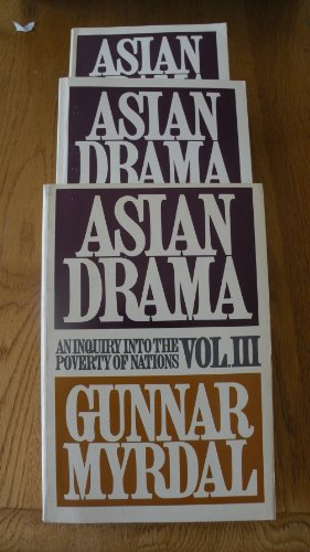 Books : Asian Drama: An Inquiry into the Poverty of Nations, 3 Volume set.