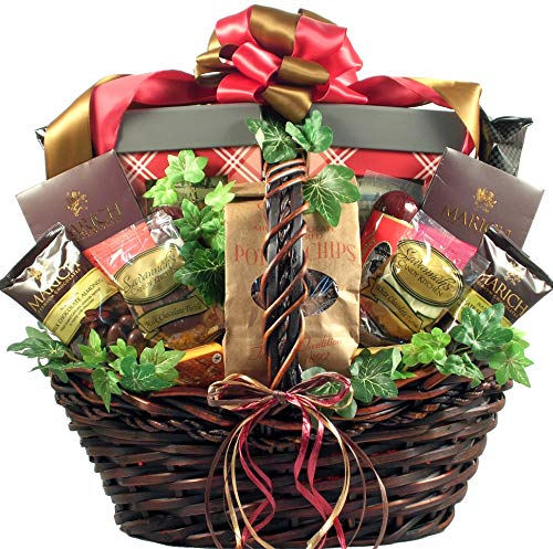 The Grand Gourmet, Large Gourmet Gift Basket With Decadent Chocolates And Gourmet Savory Snacks - Appropriate For Clients, A Groups, A Family Or A Really Lucky Individual, 14 Pounds