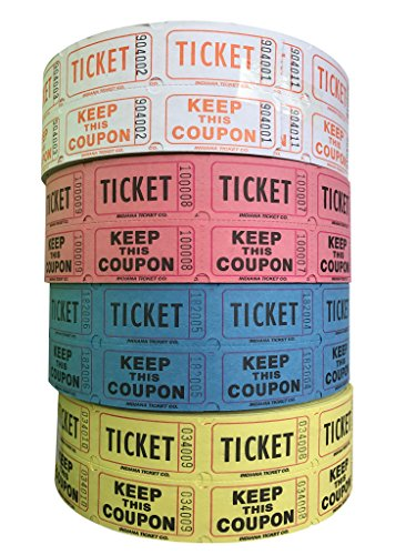 yellow double raffle ticket roll - 4