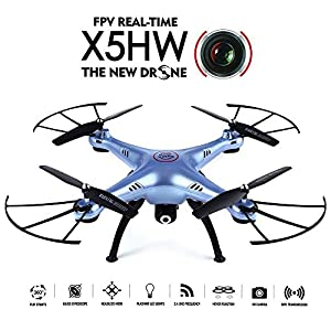 GoolRC SYMA X5HW Wifi FPV Drone 2.0MP HD Camera RC Quadcopter with 360° Eversion Headless Mode High Hold Mode Function - 51O75zXdqVL - GoolRC SYMA X5HW WiFi FPV Drone 2.0MP HD Camera RC Quadcopter with 360° Eversion Headless Mode High Hold Mode Function