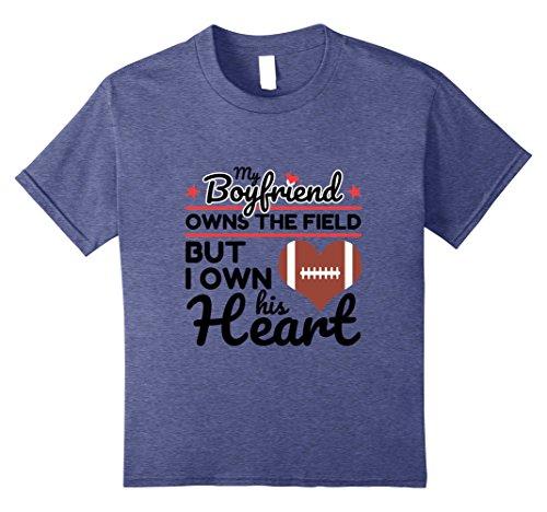 Kids Football Boyfriend T Shirt Girlfriend Gift 8 Heather Blue (Football Boyfriend Gifts)